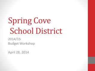 Spring Cove  School District