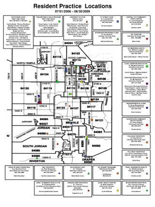 Resident Practice Locations 07/01/2008 – 06/30/2009