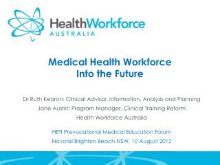 Medical Health Workforce Into the Future