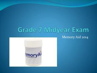 Grade 7 Midyear Exam