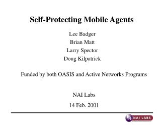 Self-Protecting Mobile Agents