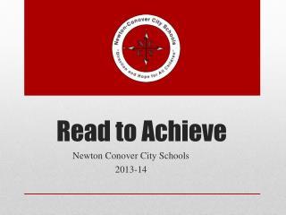Read to Achieve