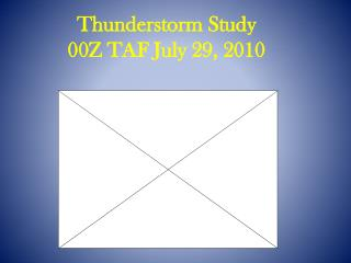 Thunderstorm Study 00Z TAF July 29, 2010