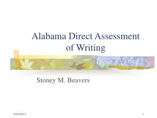 Alabama Direct Assessment of Writing