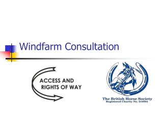 Windfarm Consultation
