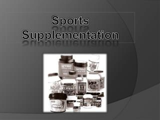 Sports  Supplementation