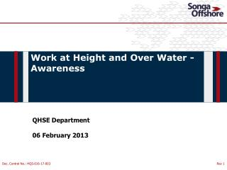 QHSE Department 06  February 2013