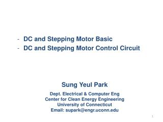 DC  and Stepping Motor  Basic  DC and Stepping Motor  Control Circuit