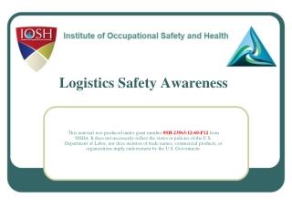Logistics Safety Awareness