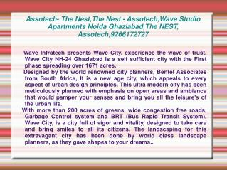Assotech- The Nest,The Nest - Assotech,Wave Studio Apartment