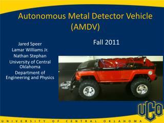 Autonomous Metal Detector Vehicle (AMDV)