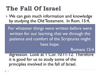 The Fall Of Israel