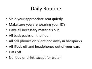 Daily Routine
