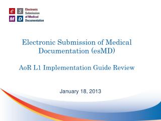 Electronic Submission of Medical Documentation (esMD) AoR  L1 Implementation Guide Review