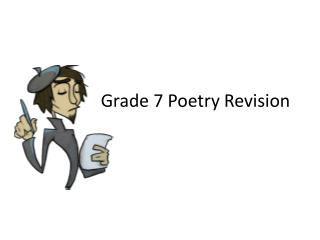 Grade  7 Poetry Revision