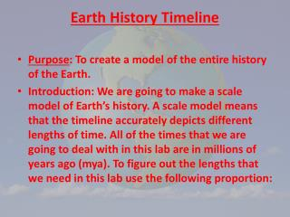 Earth  History Timeline