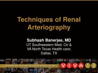 Techniques of Renal Arteriography