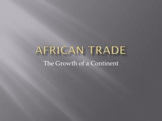 African Trade