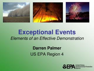 Exceptional Events Elements of an Effective Demonstration