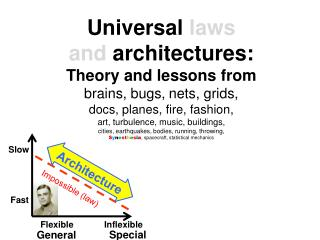 Universal  laws  and  architectures : Theory and lessons from brains, bugs, nets, grids,