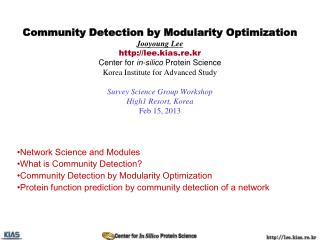 Network Science and Modules What is Community Detection ?