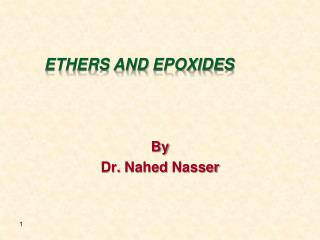 Ethers and  Epoxides