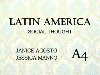 Latin America SOCIAL THOUGHT