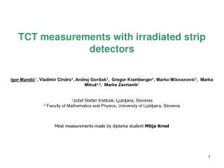 TCT measurements with irradiated strip detectors