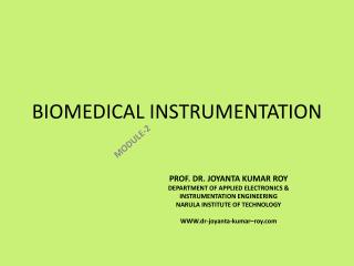 BIOMEDICAL INSTRUMENTATION