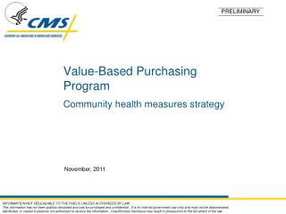 Value-Based Purchasing Program