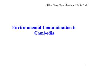 Environmental Contamination in Cambodia