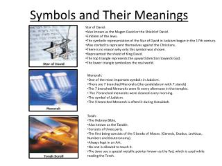 Symbols and  T heir Meanings