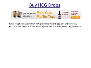 HCG Drops