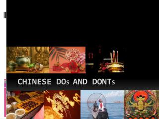 Chinese Do s and dont s