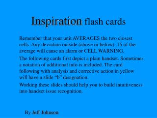 Inspiration  flash cards