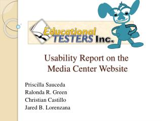 Usability Report on the  Media Center Website
