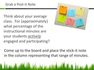 Grab a Post-it Note