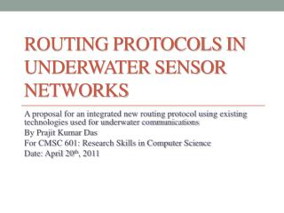 Routing Protocols in Underwater Sensor Networks