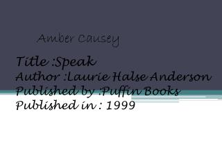 Amber Causey