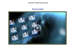 internet makerting course