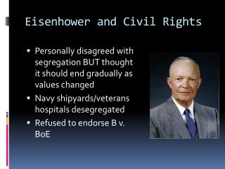Eisenhower and Civil Rights