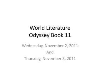 World Literature Odyssey Book 11