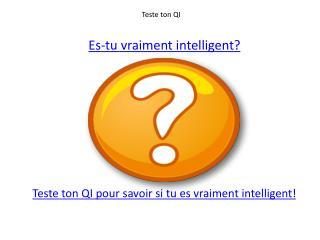Teste ton QI