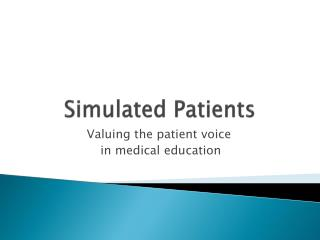 Simulated Patients