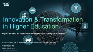 Innovation & Transformation in Higher Education
