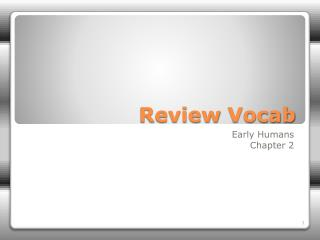Review  Vocab