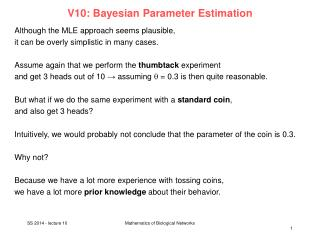 V10:  Bayesian  Parameter  Estimation