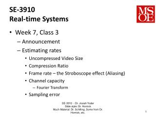 SE-3910 Real-time Systems