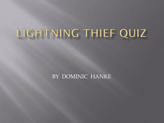 Lightning Thief Quiz
