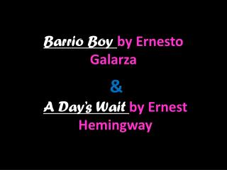 Barrio Boy  by Ernesto Galarza